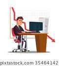 unhappy, trader, vector 35464142
