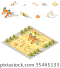 Children playground isometric icon set 35465133