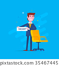 Business Man Recruitment New Job Position Vacancy 35467445