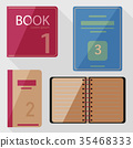 Set of book icons in flat design style.Vector  35468333