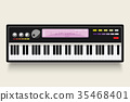 Vector. Musical flat background. Piano key, 35468401