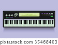 Vector. Musical flat background. Piano key, 35468403