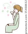 ผ่อนคลาย,เวลาน้ำชา,ผู้หญิง 35468632