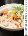 鍋裡煮好的食物 燉湯 食物 35471354