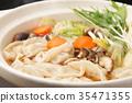 鍋裡煮好的食物 燉湯 食物 35471355