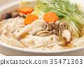 鍋裡煮好的食物 燉湯 食物 35471363