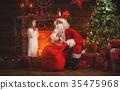 santa child girl 35475968