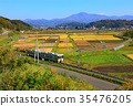 秋天 秋 釜石線 35476205