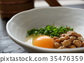 natto, fermented soybeans, Raw Egg 35476359