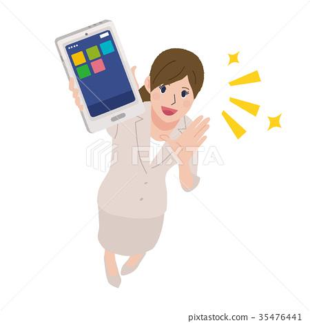 Smartphone business woman 35476441