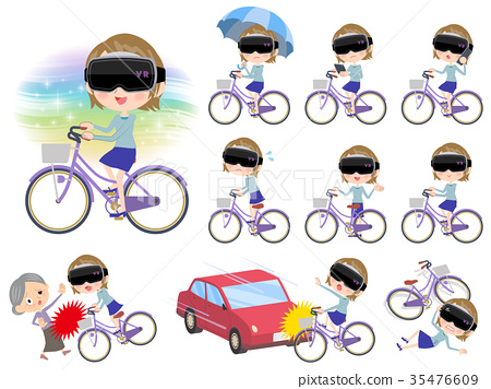 virtual reality goggle women_city bicycle 35476609