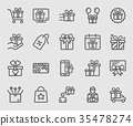 Gift line icon 35478274