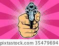 revolver, hand, pistol 35479694