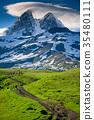 path, mountain, road 35480111