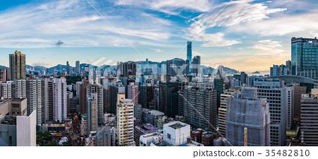 香港摩天大樓都市風景 35482810