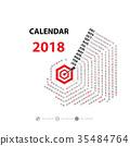 2018, calendar, month 35484764