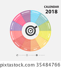2018 Calendar Template.Calendar for 2018 year. 35484766
