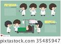 Doctor cartoon character and inpatient department 35485947
