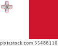 Official vector flag of Malta 35486110
