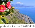 風景 富士山 三塔橋 35486416