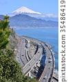 風景 富士山 三塔橋 35486419