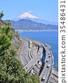 富士山 世界遺產 三塔橋 35486431