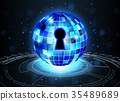 Abstract security technology background, 35489689
