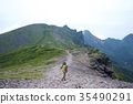 硫黄岳에서 横岳 · 아카 다케의 능선 35490291