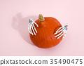 pumpkin and hands 35490475