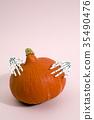 pumpkin and hands 35490476