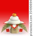 kagami rice cakes, round rice-cake, new year 35490694
