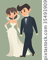 bride and groom, Cartoon character. 35493909