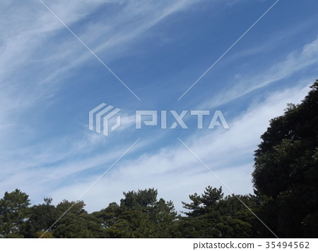 蓝天 蓝蓝的天空 蓝色 35494562