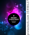 background, christmas, vector 35498127