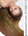 girl with beautiful long hair 35498153