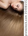 girl with beautiful long hair 35498155