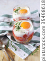eggs, verrine, breakfast 35498618