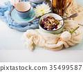 Breakfast bowl of yogurt and quark 35499587