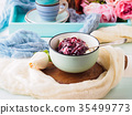 Breakfast bowl of yogurt and quark 35499773