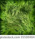 Christmas background from fir tree branches. EPS 35500464