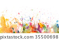 Splatters and stains on white paper 35500698