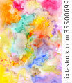 Abstract watercolor background - hand drawn 35500699