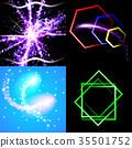 Set of Beautifully glowing neon abstract backgroun 35501752