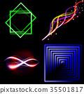Set of Beautifully glowing neon abstract backgroun 35501817