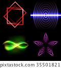 Set of Beautifully glowing neon abstract backgroun 35501821