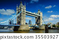 Sunny day in London, view to the Tower Bridge 35503927