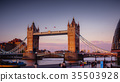 Sunset in London, view to the Tower Bridge 35503928