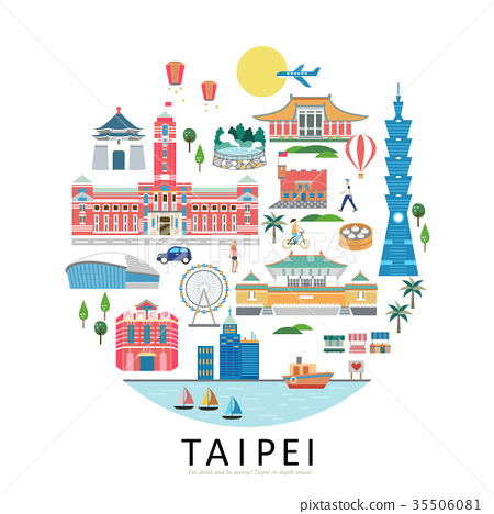 Taipei landmarks collection 35506081