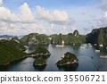 하롱베이, 기암, 바다 35506721