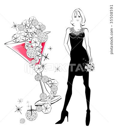 female, lady, woman 35508591